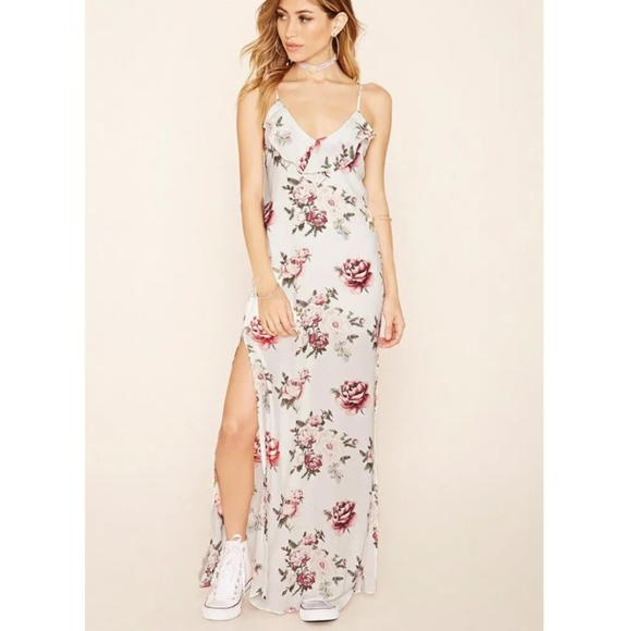 Forever 21 Floral Print Maxi Dress New with Tags